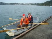 Andrew and Phil setting up the water intake on their row boat