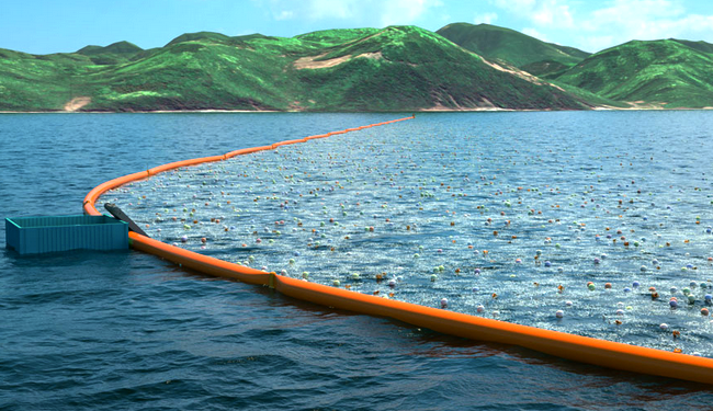 The world's first ocean cleaning system will likely be deployed off Tsushima Island in Japan, where city officials are trying to come up with innovative ways to solve plastic pollution. Photo Credit: The Ocean Cleanup