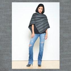 Ocean Avenue Charcoal Grey Wool Poncho