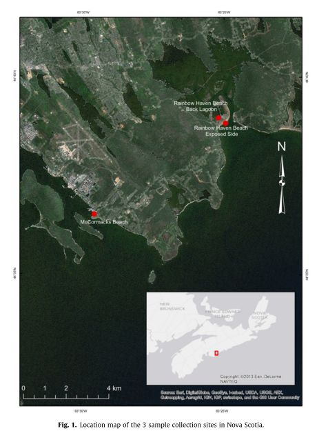 Halifax microplastic sampling sites