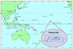 Fig. 4: The location of the Palmyra Atoll.