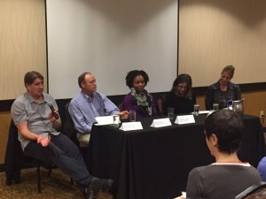 Fig. 2: An opening night panel focused on life outside of academia (Photo: Jenn Burt).