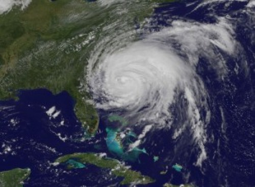 Figure 1. Satellite image of Hurricane Irene on Aug. 25th, 2011 (nasa.gov).