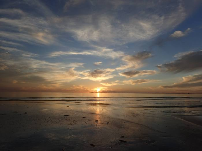Fig 5: Sunset over the Gulf of Mexico from Bunche Beach, Fort Myers, FL. Source: Rebecca Flynn. Please do not use this photo without permission of the author.