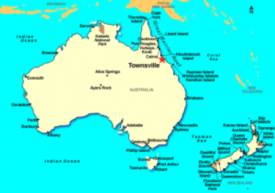 The Great Barrier Reef is located off the Northeastern coast of Australia [Wikimedia].