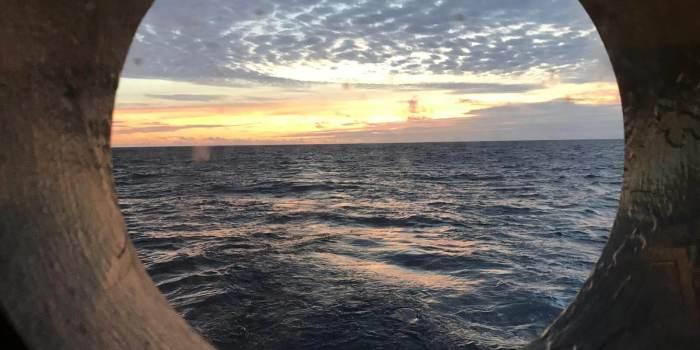 Schönes Wetter auf dem Ozean