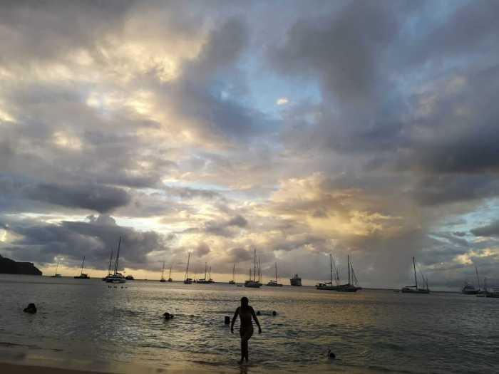Strand-Stimmung am Abend