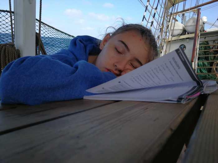 schlafen auf dem Segelschiff