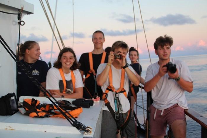 Fotografieren auf dem Segelschiff