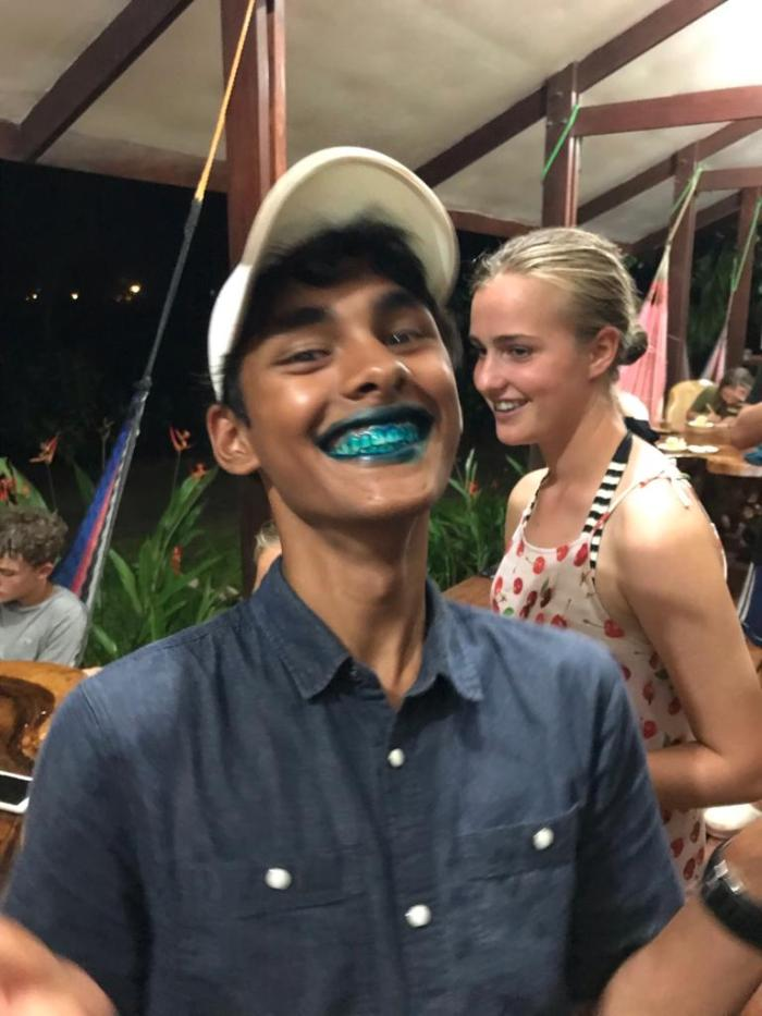 Karun eating Cake