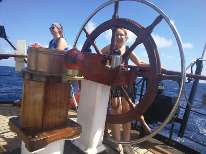 Student at the helm
