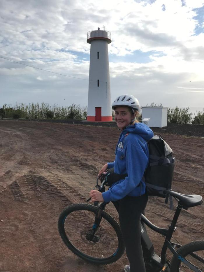 Elisa at the lighthouse