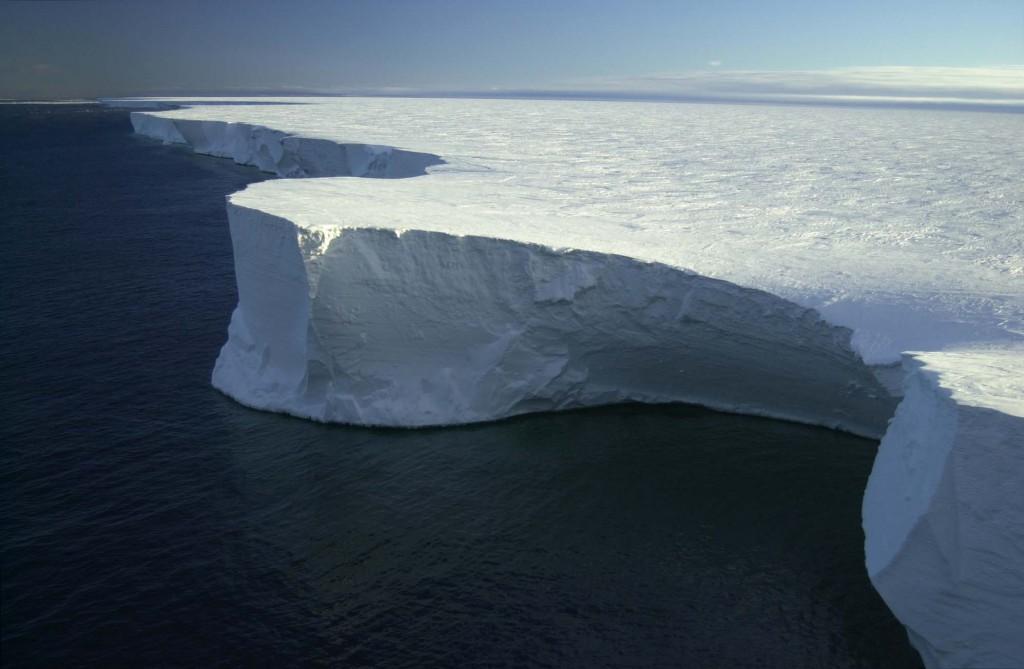 This giant iceberg, B-15A, broke off the Ross Ice Shelf in Antarctica. (Credt: Josh Landis/NSF)