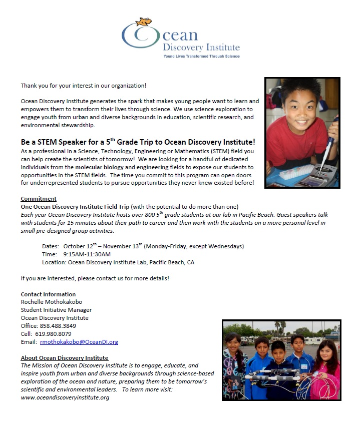 OSE Science Speaker Flyer 5th Grade