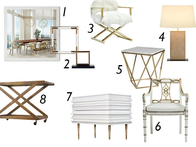 Glamorous White And Gold Home Decor