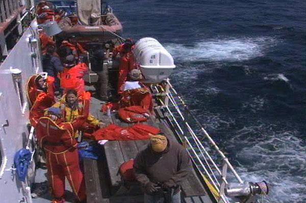 NOAA Ocean Explorer Sanctuary Quest Abandon ship drill