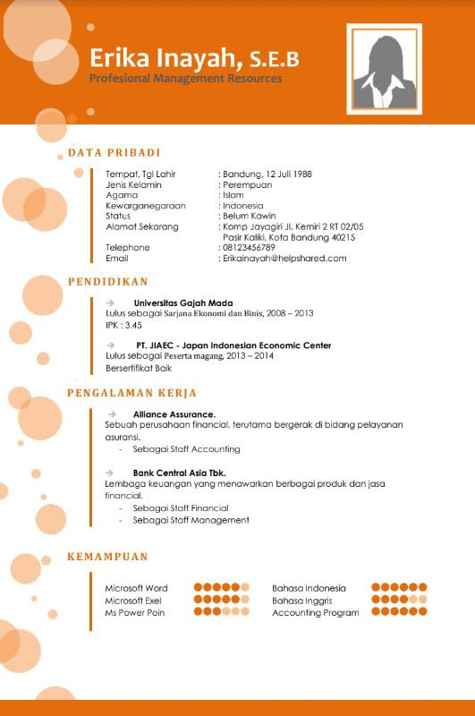 Download Template Cv Indonesia : download, template, indonesia, Download, Format, Kosong, Oceanfasr