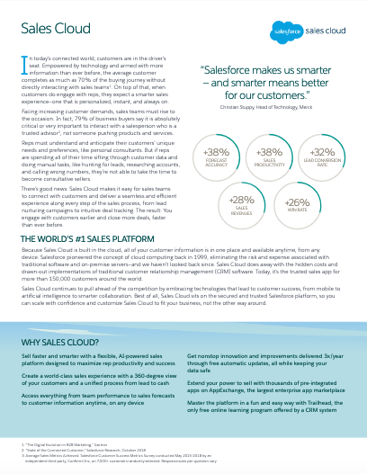 Salesforce.com Sales Cloud Datasheet