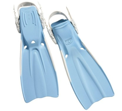 Problue Rubber Vented Fins Soft Blue
