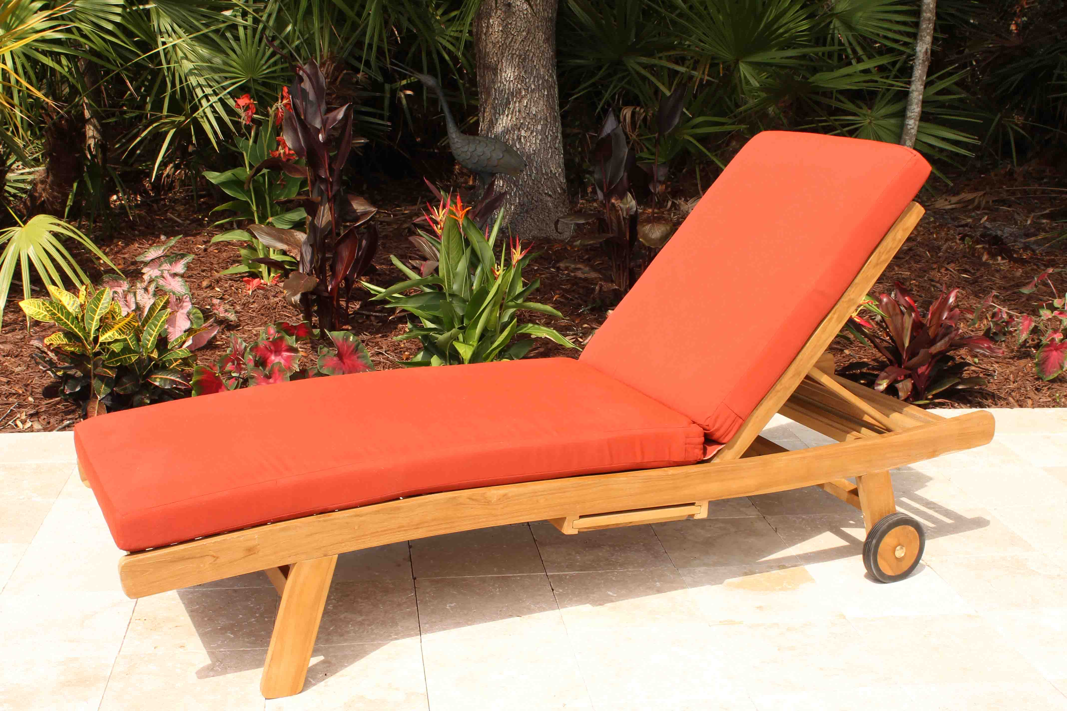 Teak Chaise Lounge Chairs Deep Seat Teak Lounge Set 4 Seat Including Full Sunbrella Cushions
