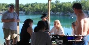 Scuba Divers at Beautiful Blue Lagoon in Texas