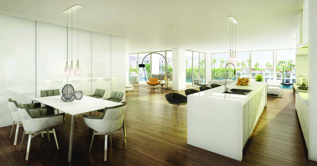 AquaVue, a new waterfront condominium appeals to the next generation of buyers.