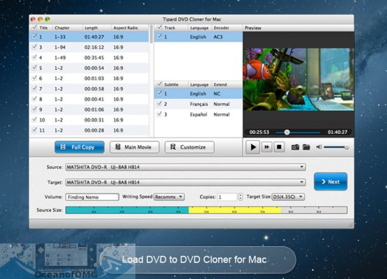 Tipard DVD Cloner for Mac Latest Version Download-OceanofDMG.com