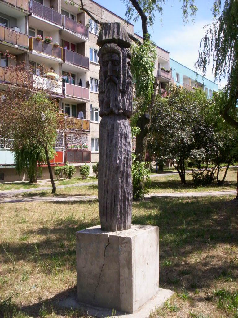 Svetovid idol in Głogów, Poland (Polska)
