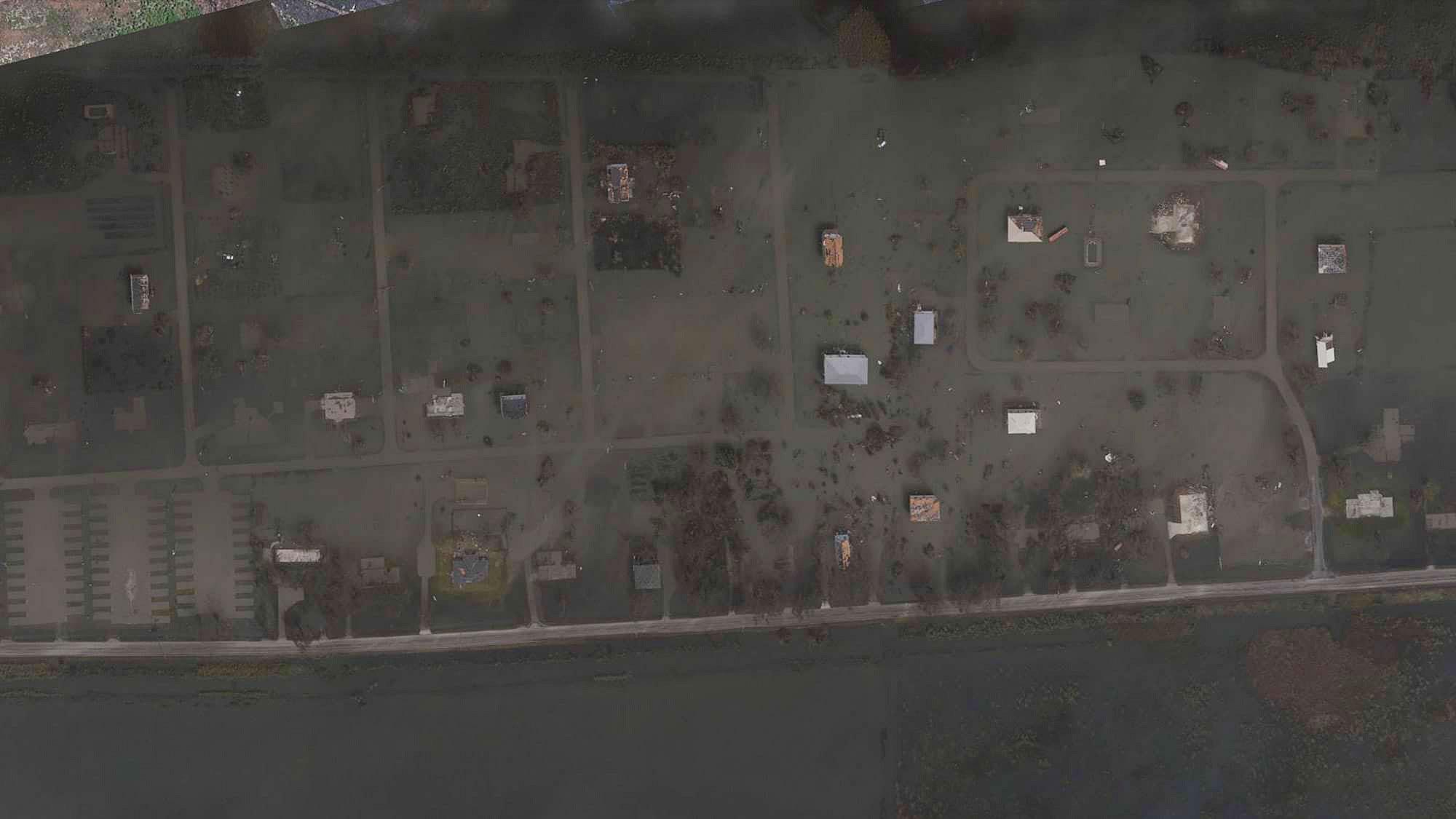 an image showing the area near Cameron, Louisiana before Laura