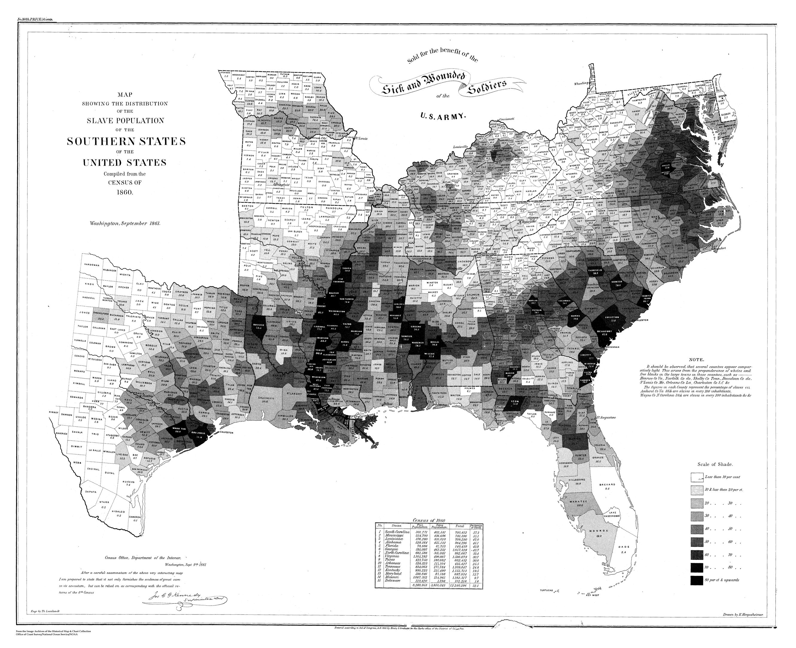 Slave Map Of