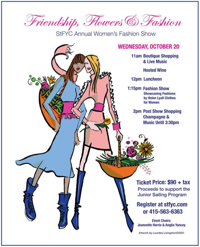 Ocean SF will have a table at the St. Francis Yacht Club Fashion Show on Oct. 20th. We will have new products and exclusive deals. A percentage of our proceeds will be donated to the Junior Sailing Program.   To purchase a ticket, please visit the St. Francis website. We hope to see you there!