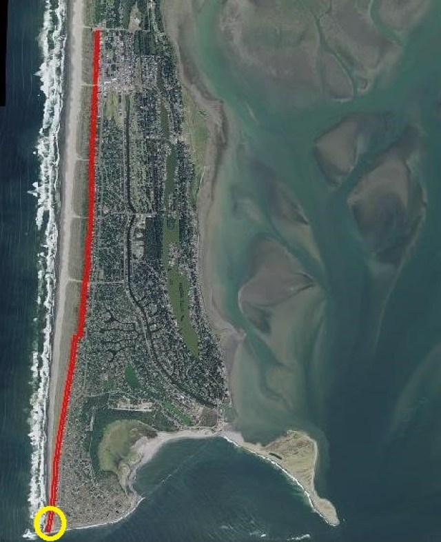 DIVIDE LINE AND JETTY EROSION