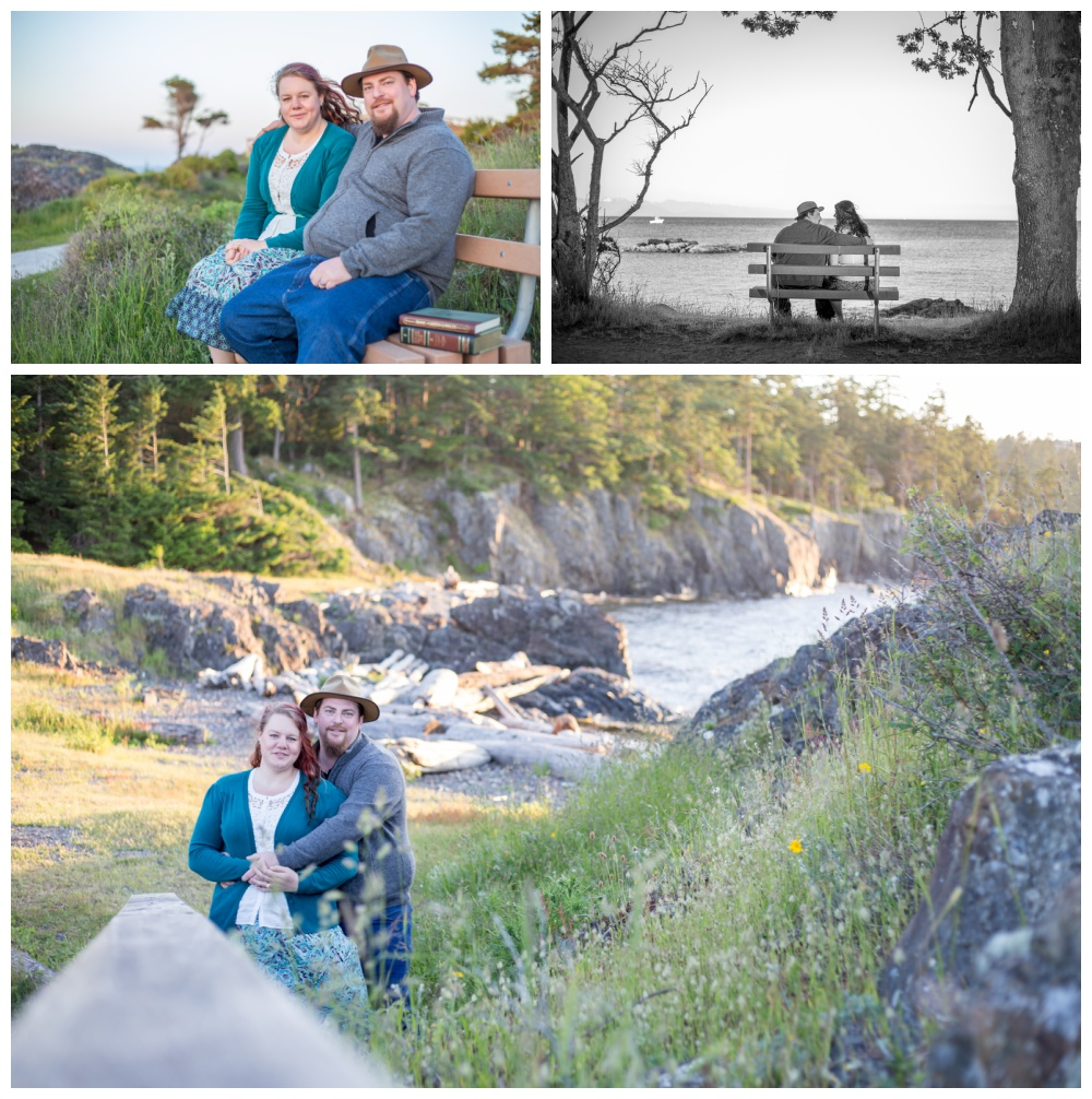 Couples engagement photography session at Nanaimo's Neck point park