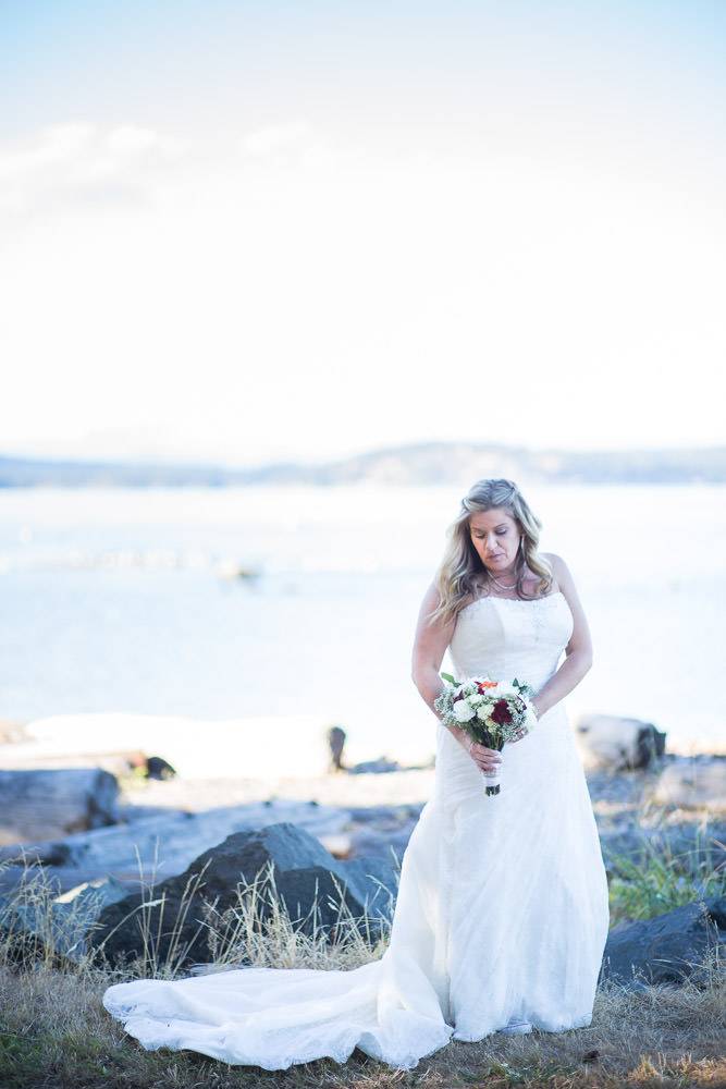 Bridal Portrait at Campbell River's Kin Beach