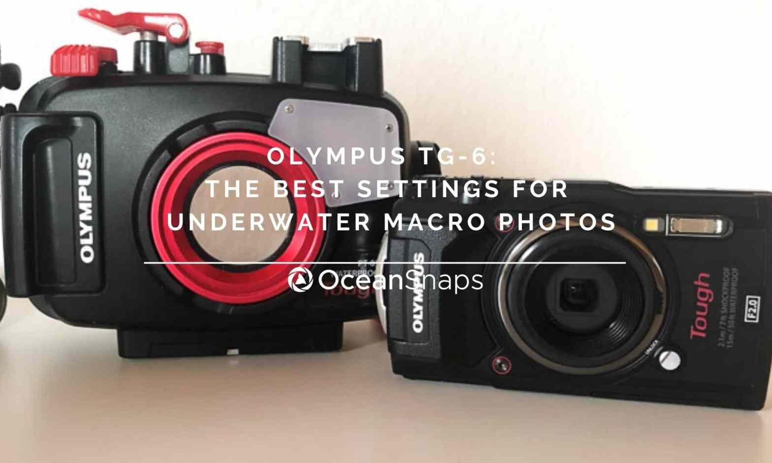 Olympus TG6 underwater settings