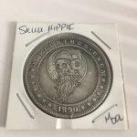 Skull Hippie Lucky Flip Coin Vintage Style Morgan Dollar Coin