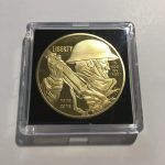 WWI 100 Year Anniversary Gold Plated Coin