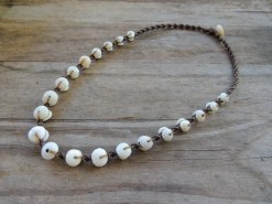 "Ocean Tuff Jewelry - ""Puka Pearl"" Kauai Puka Shell Necklace"