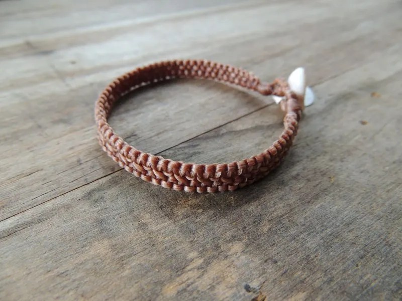 Ocean Tuff Jewelry - Hand-Woven Bracelet in Natural (2-strand)