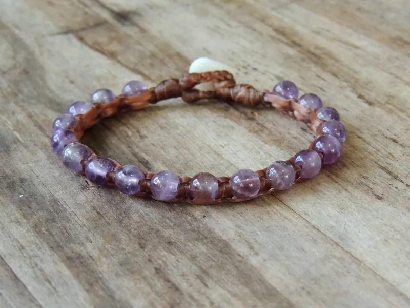 Ocean Tuff Jewelry - Amethyst Gemstone Bracelet