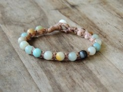 Ocean Tuff Jewelry - Rainbow Amazonite Gemstone Bracelet
