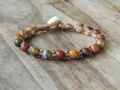Ocean Tuff Jewelry - Red Creek Jasper Gemstone Bracelet