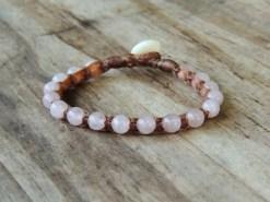 Ocean Tuff Jewelry - Rose Quartz Gemstone Bracelet