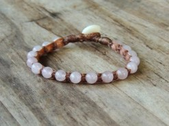 Ocean Tuff Jewelry - Rose Quartz Gemstone Bracelet