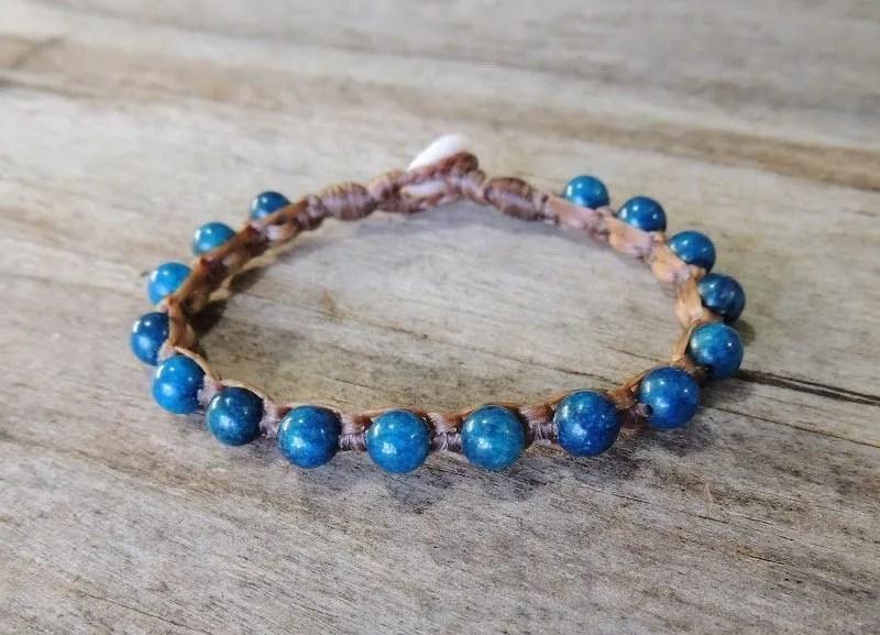 Ocean Tuff Jewelry - Blue Apatite Gemstone Bracelet