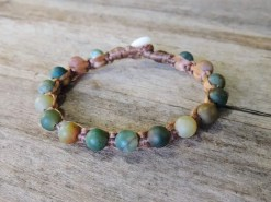 Ocean Tuff Jewelry - India Agate Gemstone Bracelet