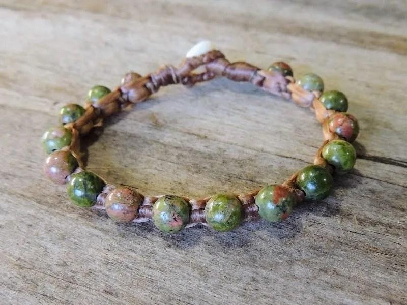 Ocean Tuff Jewelry - Unakite Gemstone Bracelet