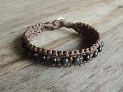 Ocean Tuff Jewelry - Rainbow Obsidian Chunky Beaded Bracelet