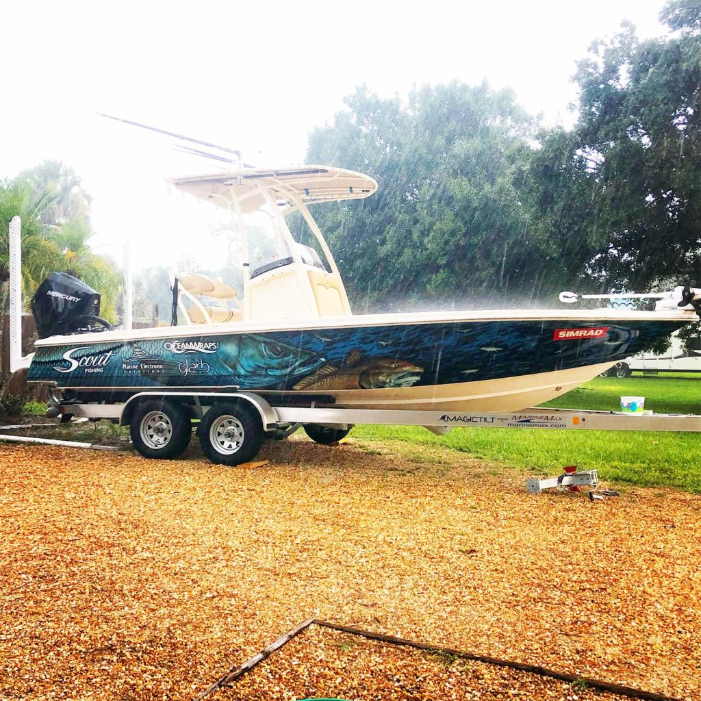 Custom Printed Boat Wrap