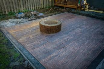 heavy bark fire pit decorative concrete